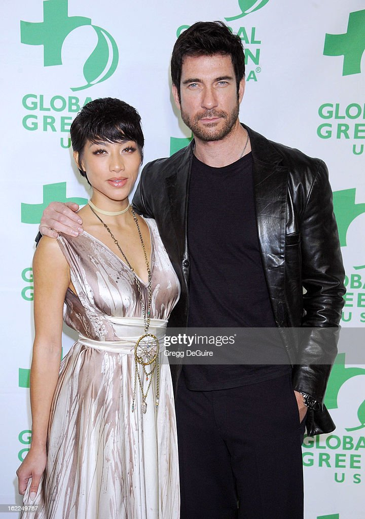 Actors Shasi Wells and Dylan McDermott arrive at Global Green USA's 10th Annual PreOscar party at Avalon on February 20 2013 in Hollywood California