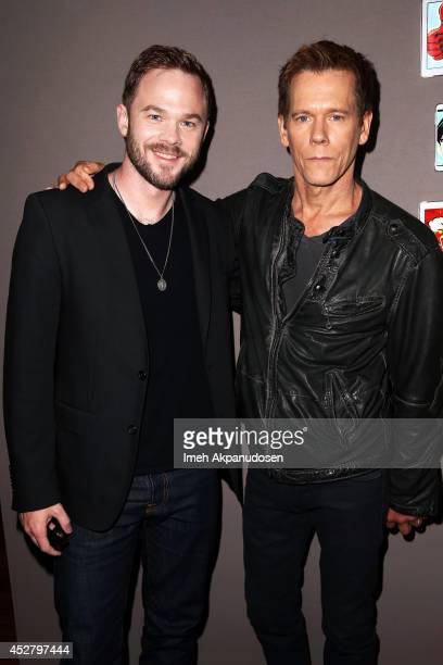 Actors Shawn Ashmore and Kevin Bacon attend the Samsung Galaxy VIP Lounge during ComicCon International 2014 at Hard Rock Hotel San Diego on July 27...