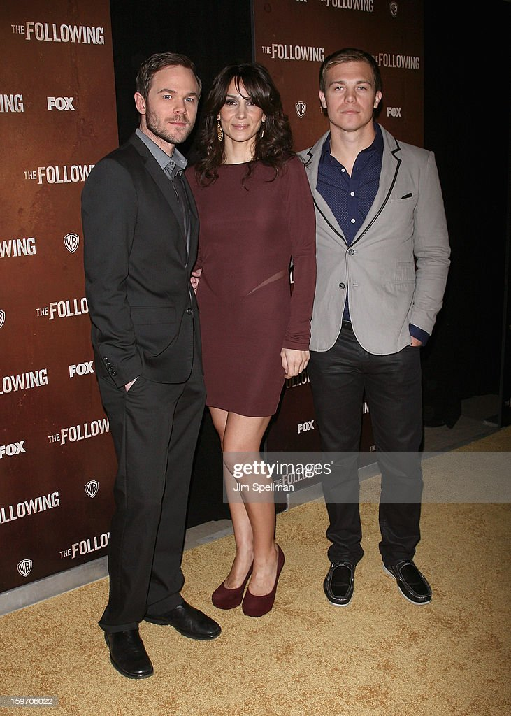 Actors Shawn Ashmore, Annie Parisse and Michael Roark attends 'The Following' New York Premiere at New York Public Library - Astor Hall on January 18, 2013 in New York City.