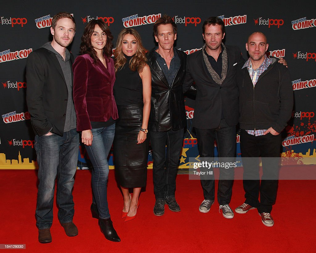 Actors Shawn Ashmore, Annie Parisse, Natalie Zea, Kevin Bacon, James Purefoy, and director Marcos Siega attend the 2012 New York Comic Con at the Javits Center on October 14, 2012 in New York City.