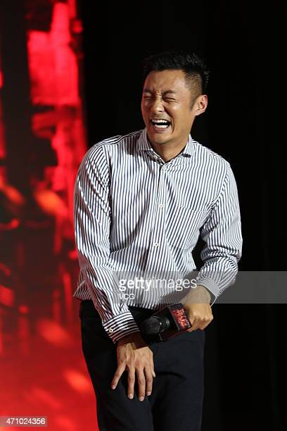 Actors Shawn Yue attends director Lok Man Leung's new movie 'Helios' premiere on April 24 2015 in Shanghai China