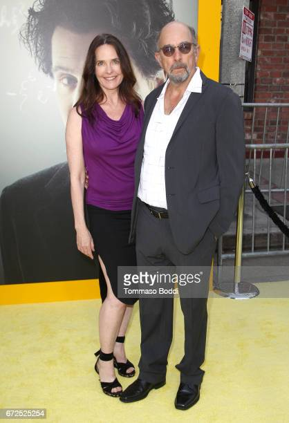 Actors Sheila Kelley and Richard Schiff attend the Los Angeles Premiere Screening of National Geographics 'Genius' the Fox Theater on April 24 2017...
