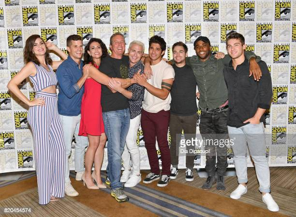 Actors Shelley Hennig Charlie Carver Melissa Ponzio Linden Ashby Colton Haynes Tyler Posey Dylan Sprayberry Khylin Rhambo and Cody Christian at the...