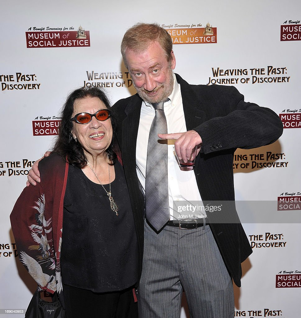 Actors <a gi-track='captionPersonalityLinkClicked' href=/galleries/search?phrase=Shelley+Morrison&family=editorial&specificpeople=228144 ng-click='$event.stopPropagation()'>Shelley Morrison</a> and Ely Baskin attend the screening of 'Weaving The Past: Journey Of Discovery' at the Linwood Dunn Theater at the Pickford Center for Motion Study on May 18, 2013 in Hollywood, California.