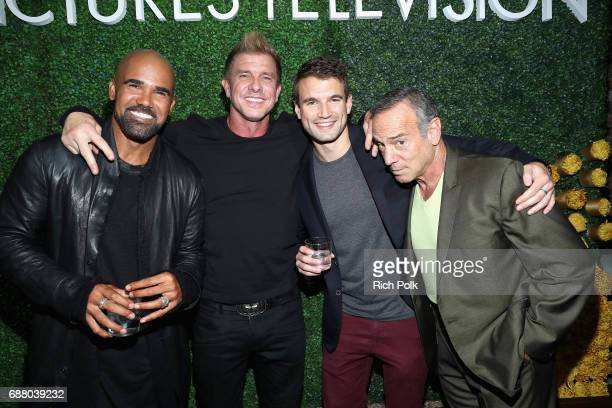 "Actors Shemar Moore Kenny Johnson Alex Russell and Peter Onorati stars of the new Sony Pictures Television series ""SWAT"" attend the Sony Pictures..."