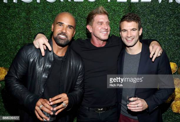 "Actors Shemar Moore Kenny Johnson and Alex Russell stars of the new Sony Pictures Television series ""SWAT"" attend the Sony Pictures Television LA..."