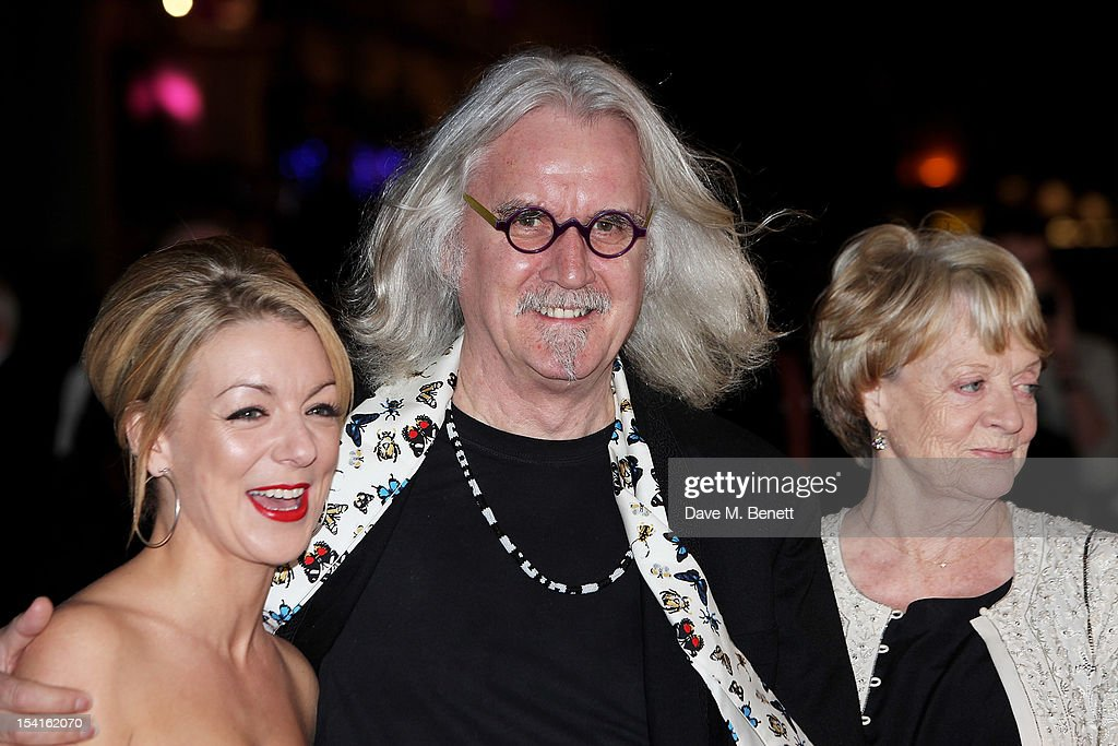 Actors <a gi-track='captionPersonalityLinkClicked' href=/galleries/search?phrase=Sheridan+Smith&family=editorial&specificpeople=4159304 ng-click='$event.stopPropagation()'>Sheridan Smith</a>, <a gi-track='captionPersonalityLinkClicked' href=/galleries/search?phrase=Billy+Connolly&family=editorial&specificpeople=208248 ng-click='$event.stopPropagation()'>Billy Connolly</a> and Dame <a gi-track='captionPersonalityLinkClicked' href=/galleries/search?phrase=Maggie+Smith&family=editorial&specificpeople=206821 ng-click='$event.stopPropagation()'>Maggie Smith</a> attend the Premiere of 'Quartet' during the 56th BFI London Film Festival at Odeon Leicester Square on October 15, 2012 in London, England.