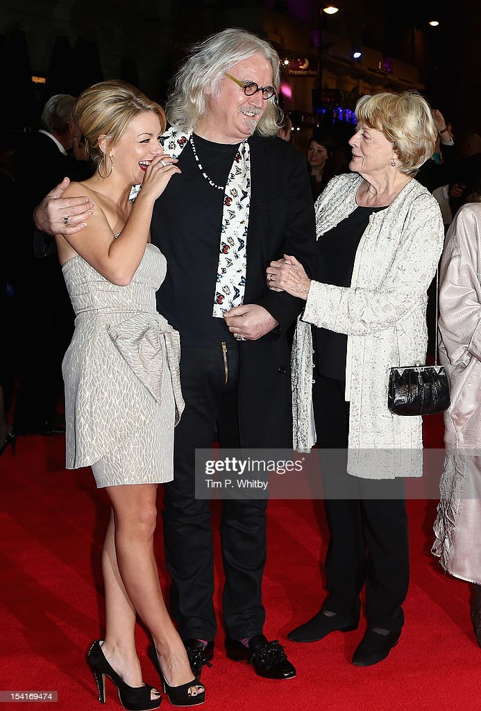 Actors Sheridan Smith, Billy Connolly and Maggie Smith attend the 'Quartet' premiere during the 56th BFI London Film Festival at the Odeon Leicester Square on October 15, 2012 in London, England.