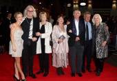 Actors Sheridan Smith Billy Connolly Maggie Smith Pauline Collins Tom Courtenay director Dustin Hoffman and Dame Gwyneth Jones attend the 'Quartet'...