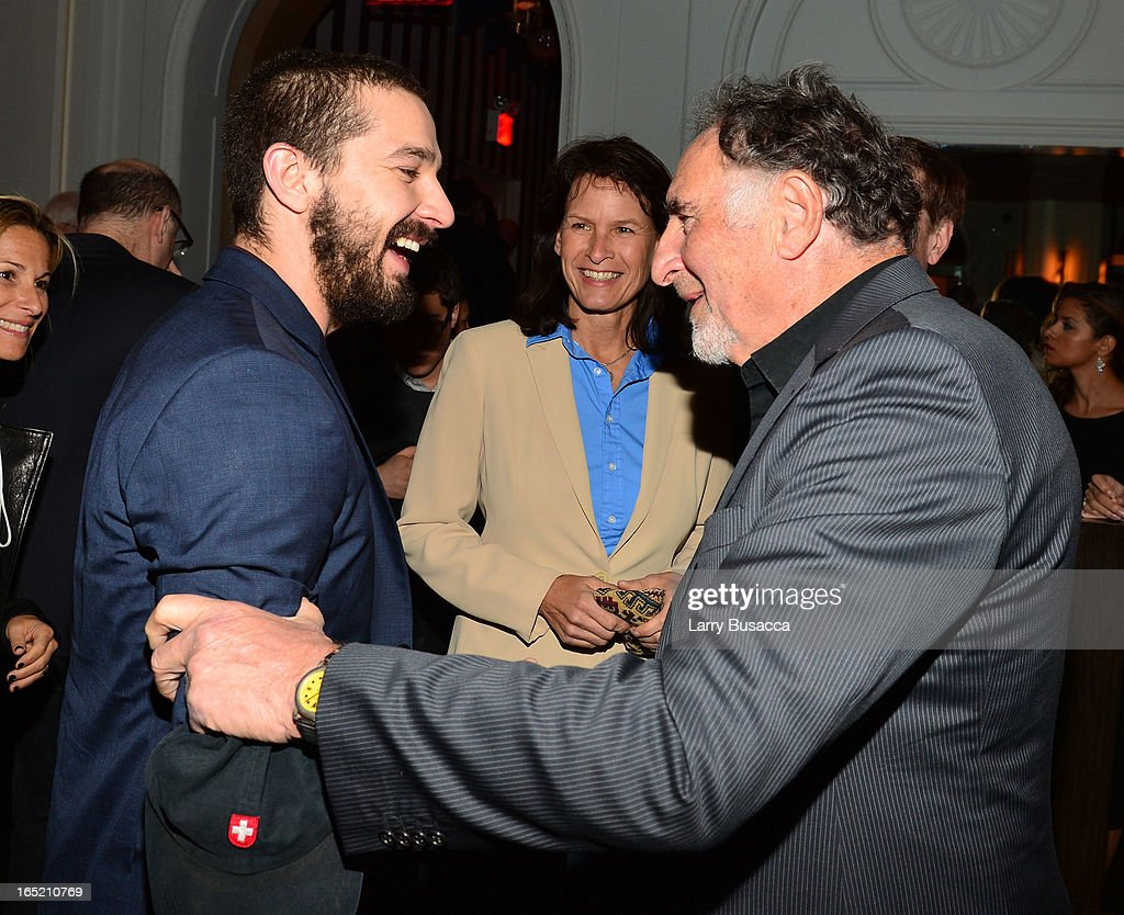 Actors Shia LaBeouf and <a gi-track='captionPersonalityLinkClicked' href=/galleries/search?phrase=Judd+Hirsch&family=editorial&specificpeople=228101 ng-click='$event.stopPropagation()'>Judd Hirsch</a> attend 'The Company You Keep' New York Premiere After Party at Harlow on April 1, 2013 in New York City.