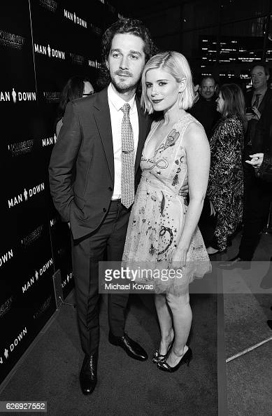 Actors Shia LaBeouf and Kate Mara attend the Los Angeles Premiere of 'Man Down' on November 30 2016 in Los Angeles California