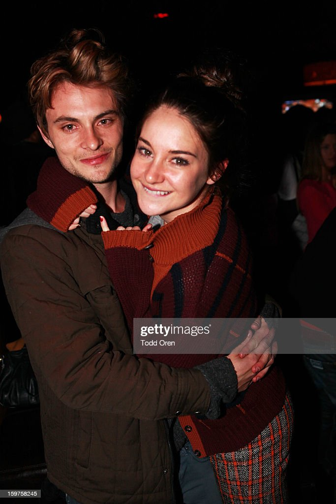 Actors Shiloh Fernandez and Shailene Woodley attend Night 2 of Hyde Lounge on January 19, 2013 in Park City, Utah.
