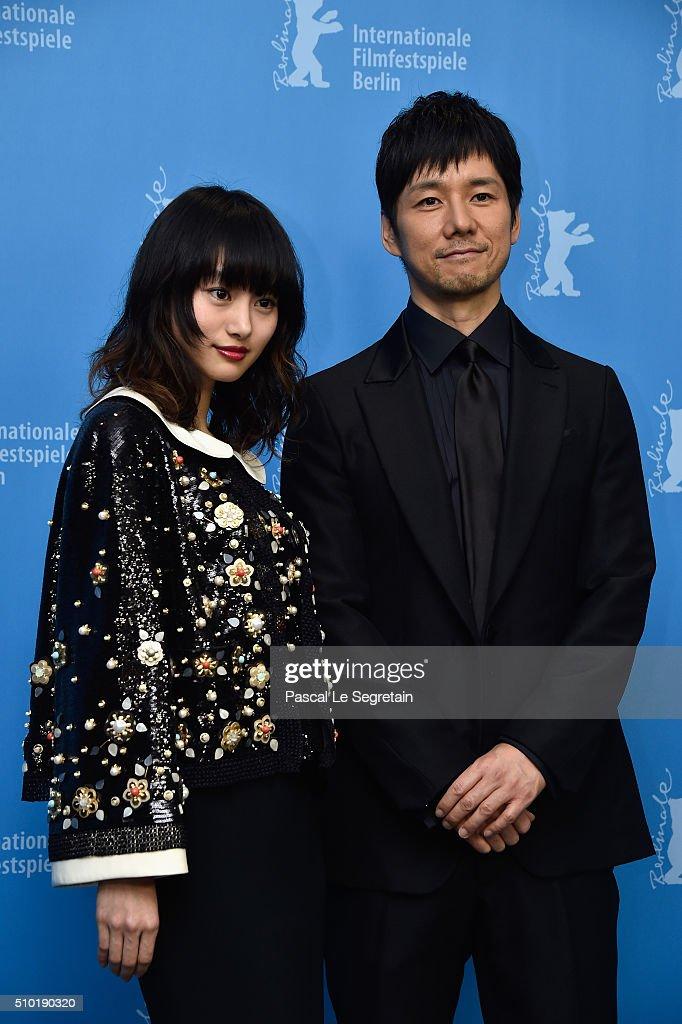 Actors <a gi-track='captionPersonalityLinkClicked' href=/galleries/search?phrase=Shiori+Kutsuna&family=editorial&specificpeople=7059925 ng-click='$event.stopPropagation()'>Shiori Kutsuna</a> and <a gi-track='captionPersonalityLinkClicked' href=/galleries/search?phrase=Hidetoshi+Nishijima&family=editorial&specificpeople=3536370 ng-click='$event.stopPropagation()'>Hidetoshi Nishijima</a> (R) attend the 'While the Women Are Sleeping' photo call during the 66th Berlinale International Film Festival Berlin at Grand Hyatt Hotel on February 14, 2016 in Berlin, Germany.