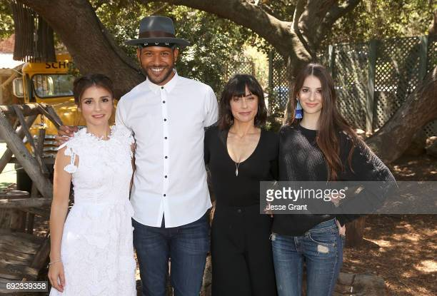 Actors Shiri Appleby Jeffrey BowyerChapman Constance Zimmer and Genevieve Buechner attend Lifetime's UnREAL Cast and Producers Kickoff Summer Group...