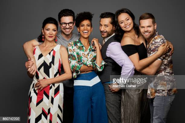 Actors Shohreh Aghdashloo Steven Strait Dominique Tipper Cas Anvar Frankie Adams and Wes Chatham from The Expanse are photographed for Entertainment...