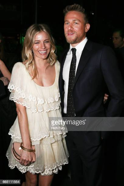 Actors Sienna Miller and Charlie Hunnam attend the after party for the premiere of Amazon Studios' 'The Lost City Of Z' at Le Jardin on April 5 2017...