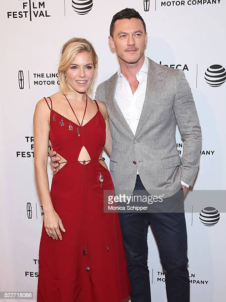Actors Sienna Miller and Luke Evans attends 'HighRise' Premiere 2016 Tribeca Film Festival at SVA Theatre 2 on April 20 2016 in New York City