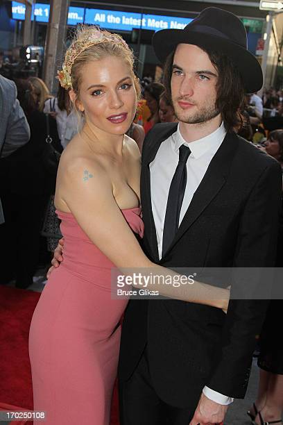 Actors Sienna Miller and Tom Sturridge attends the 67th Annual Tony Awards at Radio City Music Hall on June 9 2013 in New York City