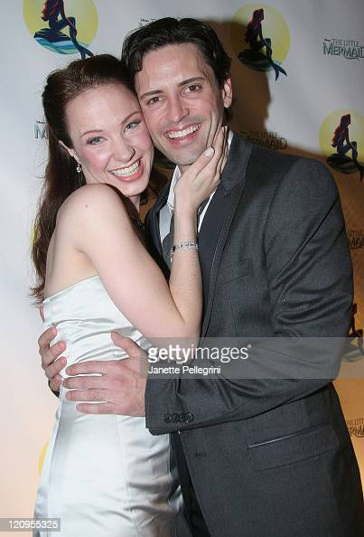 Actors Sierra Boggess and Sean Palmer attend the After Party of 'The Little Mermaid' at Roseland Ballroom on January 10 2008 in New York City