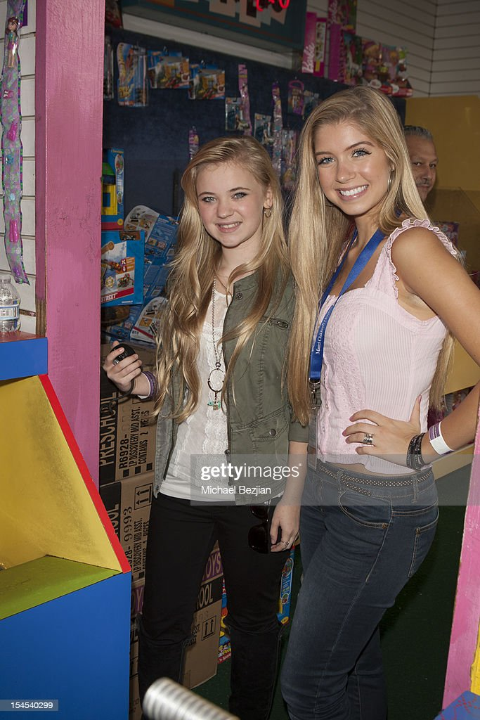 Actors Sierra McCormick and Alexandria DeBerry attend Mattel Party On The Pier Benefiting Mattel Children's Hospital UCLA - Inside at Pacific Park – Santa Monica Pier on October 21, 2012 in Santa Monica, California.