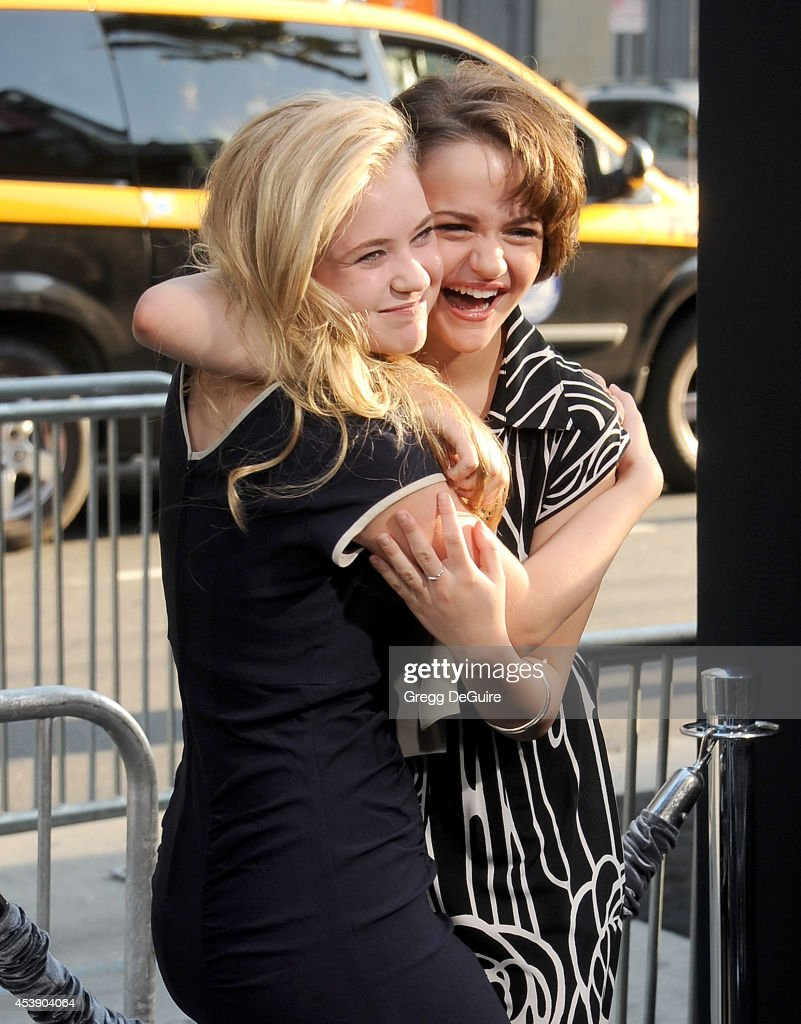 Actors Sierra McCormick and Joey King arrive at the Los Angeles premiere of 'If I Stay' at TCL Chinese Theatre on August 20, 2014 in Hollywood, California.