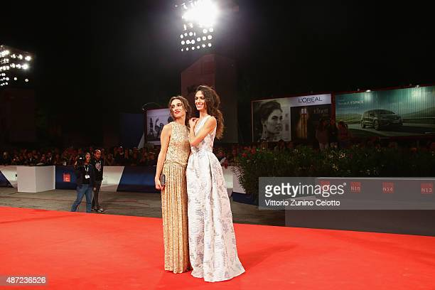 Actors Silvia D'Amico and Roberta Mattei attend a premiere for 'Don't Be Bad' during the 72nd Venice Film Festival at Palazzo del Casino on September...