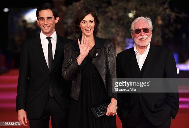 Actors Simao Cayatte Anna Mouglalis and director Carlos Saboga attend the 'Photo' Premiere during the 7th Rome Film Festival at the Auditorium Parco...