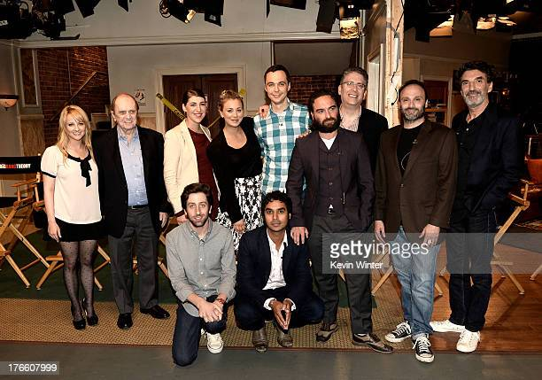Actors Simon Helberg and Kunal Nayyar Melissa Rauch Bob Newhart Mayim Bialik Kaley Cuoco Jim Parsons Johnny Galecki and executive producers Steve...