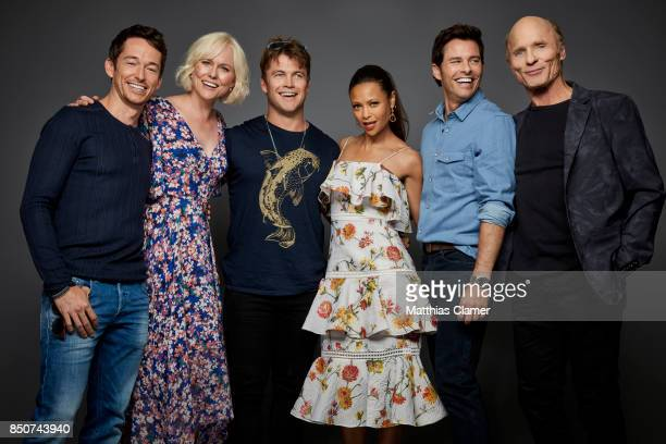 Actors Simon Quarterman Ingrid Bolso Berdal Luke Hemswortth Thandie Newton James Marsden and Ed Harris from Westworld are photographed for...