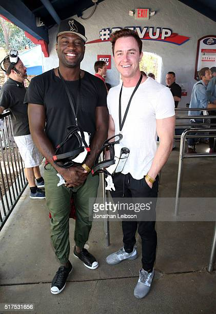 Actors Sinqua Walls and Ryan Kelley attend Samsung debut of the first virtual reality coaster powered by Samsung Gear VR at Six Flags Magic Mountain...