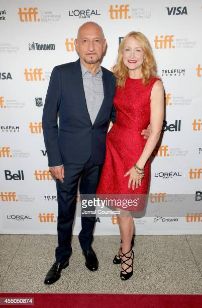 Actors Sir Ben Kingsley and Patricia Clarkson attend the 'Learning to Drive' premiere during the 2014 Toronto International Film Festival at The...