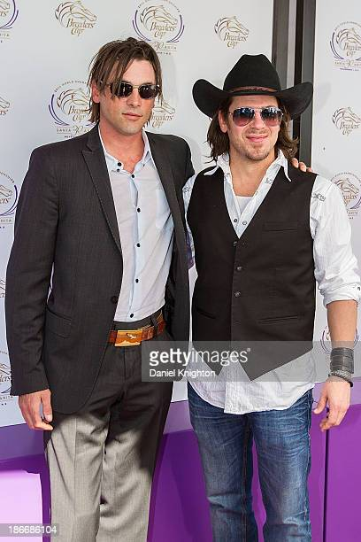 Actors Skeet Ulrich and Christian Kane arrive at the 30th Annual Breeder's Cup 'Songs in the Saddle' concert at Santa Anita Park Racetrack on...