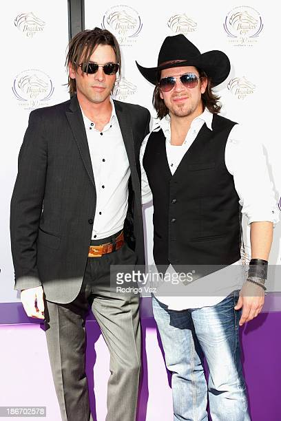 Actors Skeet Ulrich and Christian Kane arrive at the 30th Annual Breeders' Cup 'Songs in The Saddle' at Santa Anita Park Racetrack on November 2 2013...