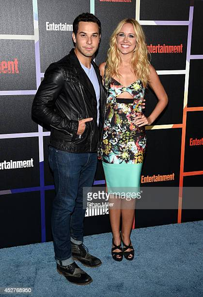 Actors Skylar Astin and Anna Camp attend Entertainment Weekly's annual ComicCon celebration at Float at Hard Rock Hotel San Diego on July 26 2014 in...