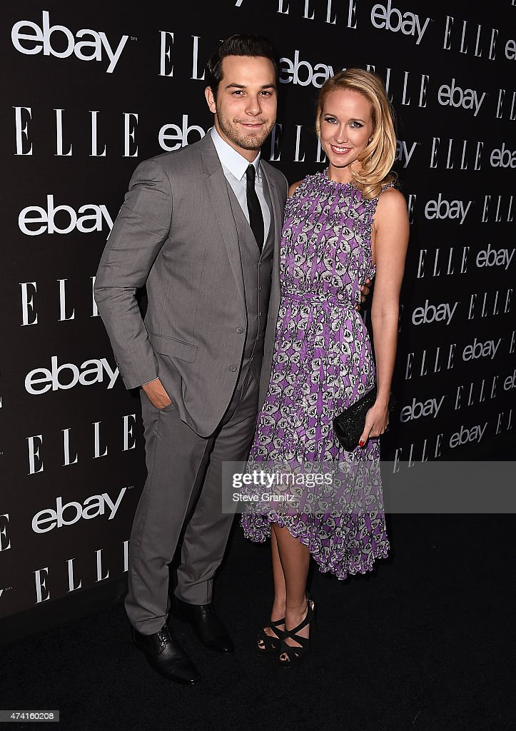 Actors Skylar Astin and Anna Camp attend the 6th Annual ELLE Women In Music Celebration Presented By eBay Hosted by Robbie Myers with performances by...
