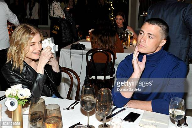 Actors Skyler Samuels wearing Sandro and Colton Haynes wearing Sandro attend an intimate dinner hosted by Derek Blasberg Sandro Founder Artistic...