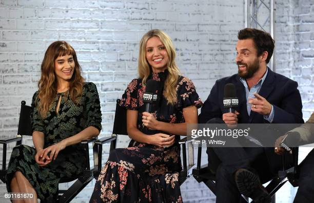 Actors Sofia Boutella Annabelle Wallis and Jake Johnson from the cast of 'The Mummy' speak at the Build LDN event at AOL London on June 1 2017 in...