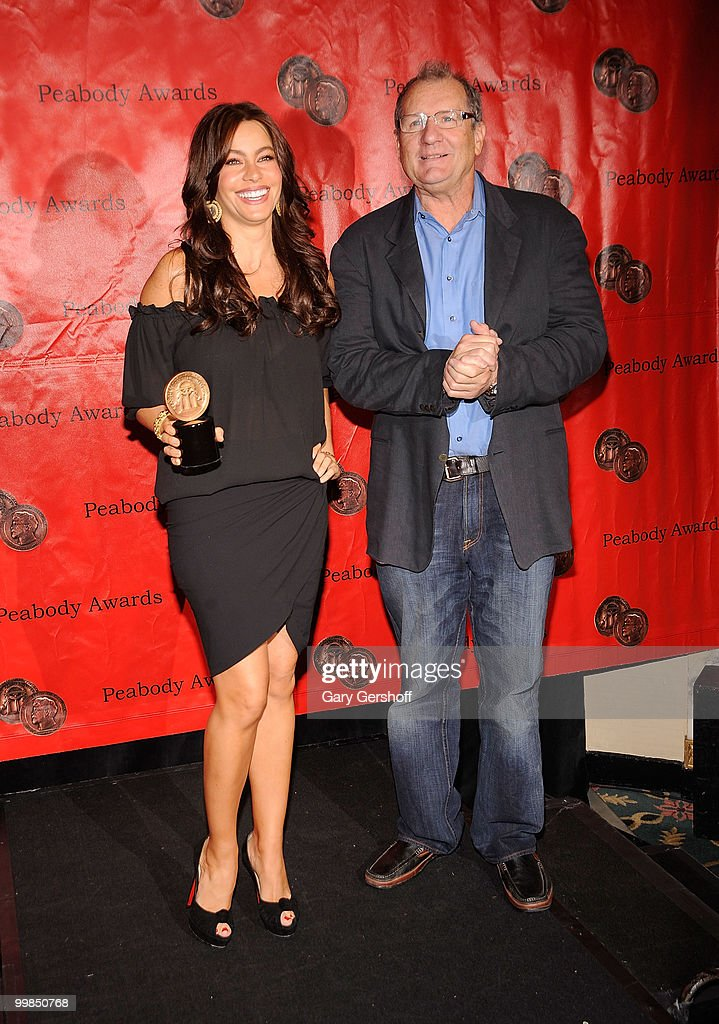 Actors Sofia Vergara and Ed O'Neill attend the 69th Annual Peabody Awards at The Waldorf=Astoria on May 17 2010 in New York City