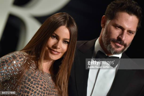 Actors Sofia Vergara and Joe Manganiello arrive at the 2017 Vanity Fair Oscar Party Hosted By Graydon Carter at Wallis Annenberg Center for the...