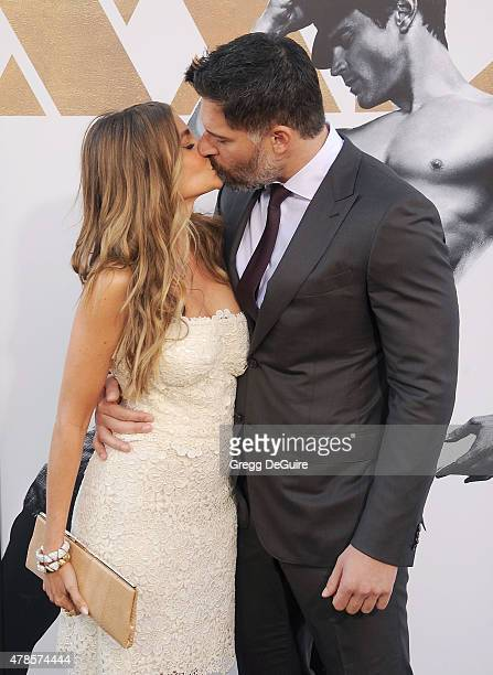 Actors Sofia Vergara and Joe Manganiello arrive at the Los Angeles World Premiere of Warner Bros Pictures' 'Magic Mike XXL' at TCL Chinese Theatre...
