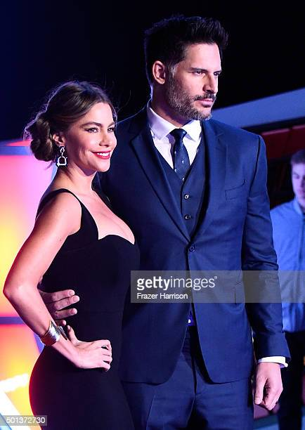 Actors Sofia Vergara and Joe Manganiello attend Premiere of Walt Disney Pictures and Lucasfilm's 'Star Wars The Force Awakens' on December 14 2015 in...