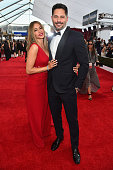 Actors Sofia Vergara and Joe Manganiello attend the 21st Annual Screen Actors Guild Awards at The Shrine Auditorium on January 25 2015 in Los Angeles...