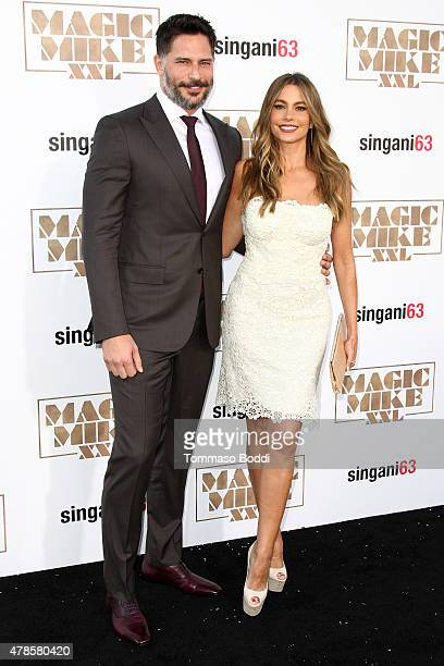 Actors Sofia Vergara and Joe Manganiello attend the Los Angeles world premiere of Warner Bros Pictures' 'Magic Mike XXL' held at TCL Chinese Theatre...