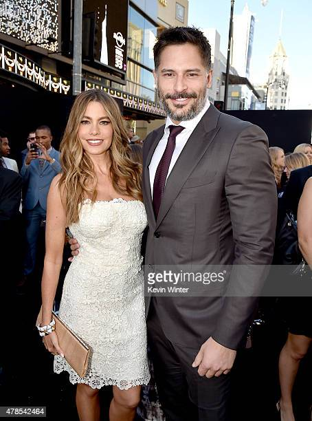 Actors Sofia Vergara and Joe Manganiello attend the premiere of Warner Bros Pictures' 'Magic Mike XXL' at TCL Chinese Theatre IMAX on June 25 2015 in...