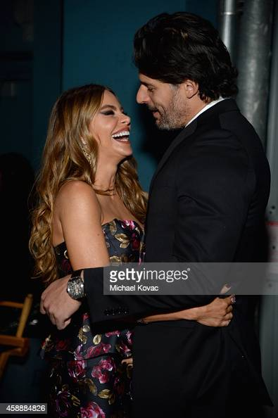 Actors Sofia Vergara and Joe Manganiello attend the special tribute to Sophia Loren during the AFI FEST 2014 presented by Audi at Dolby Theatre on...