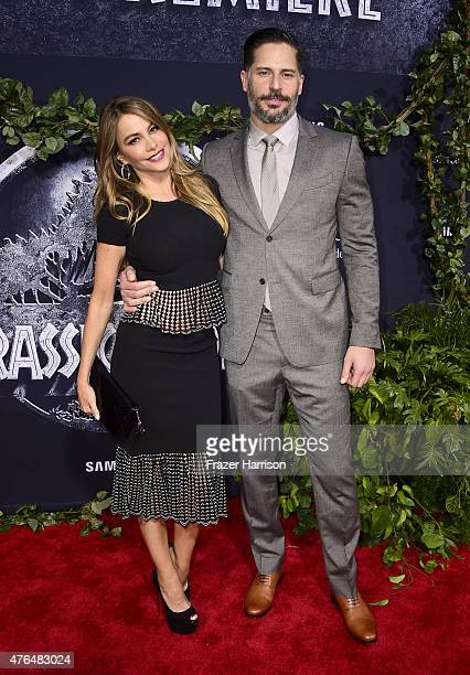 Actors Sofia Vergara and Joe Manganiello attend the Universal Pictures' 'Jurassic World' premiere at Dolby Theatre on June 9 2015 in Hollywood...