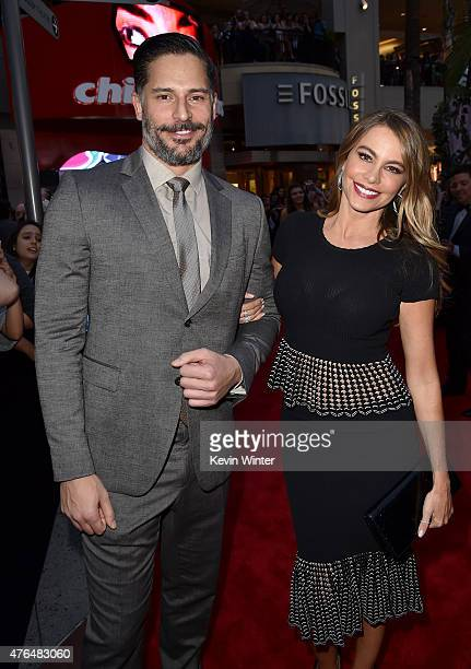 Actors Sofia Vergara and Joe Manganiello attend the Universal Pictures' 'Jurassic World' premiere at the Dolby Theatre on June 9 2015 in Hollywood...