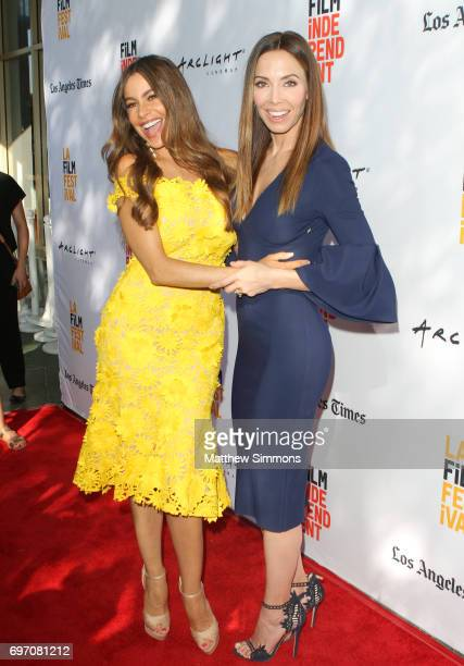 Actors Sofia Vergara and Whitney Cummings attend a screening of 'The Female Brain' during the 2017 Los Angeles Film Festival at Arclight Cinemas...