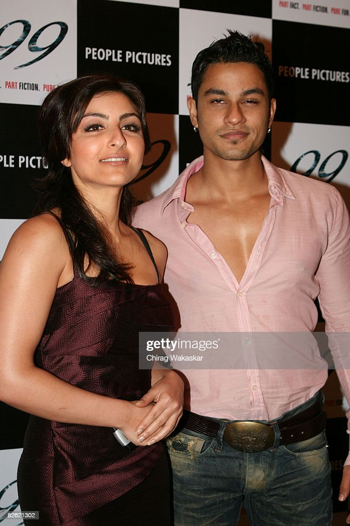 Actors Soha Ali Khan Kunal Khemu attend the press conference of the movie '99' held at Shatranj Napoli on September 01 2008 in Mumbai India