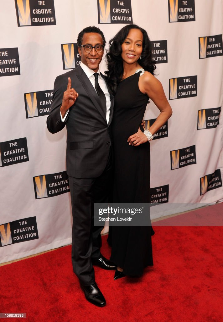 Actors <a gi-track='captionPersonalityLinkClicked' href=/galleries/search?phrase=Sonja+Sohn&family=editorial&specificpeople=224865 ng-click='$event.stopPropagation()'>Sonja Sohn</a> (R) and Andre Royo attend The Creative Coalition's 2013 Inaugural Ball at the Harman Center for the Arts on January 21, 2013 in Washington, United States.